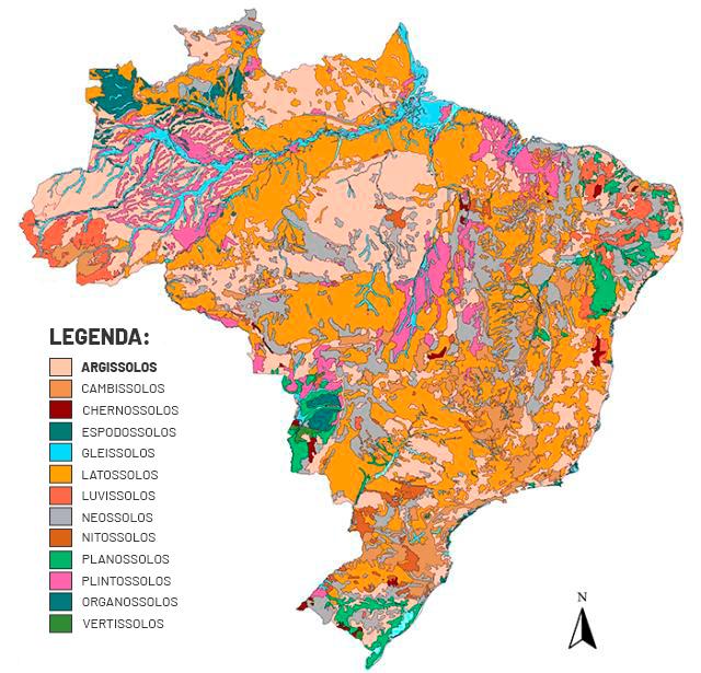 imagem mapa argissolo no Brasil