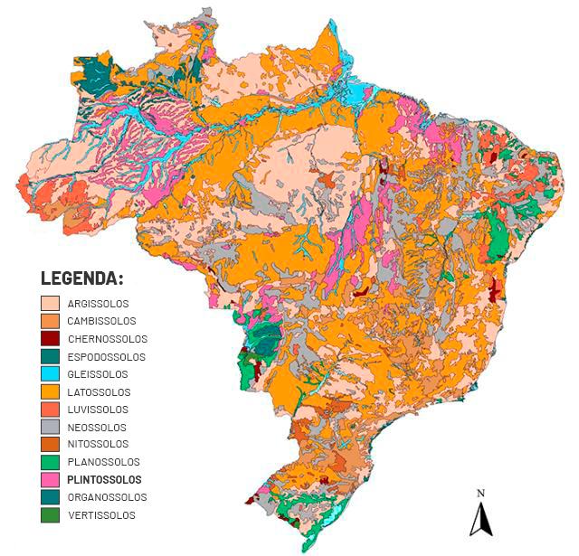 imagem mapa plintossolo no Brasil